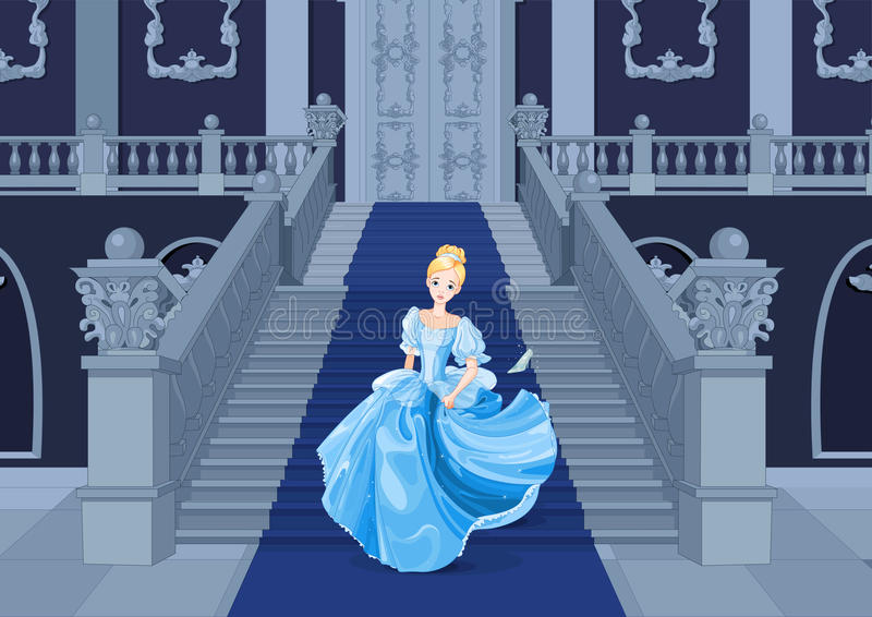 Cinderella Runs Away vector illustratie