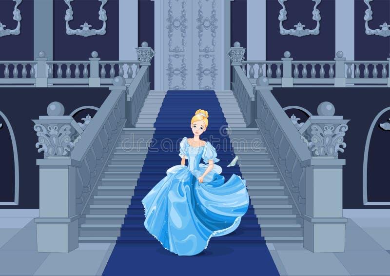 Cinderella Runs Away. Illustration of Cinderella runs away