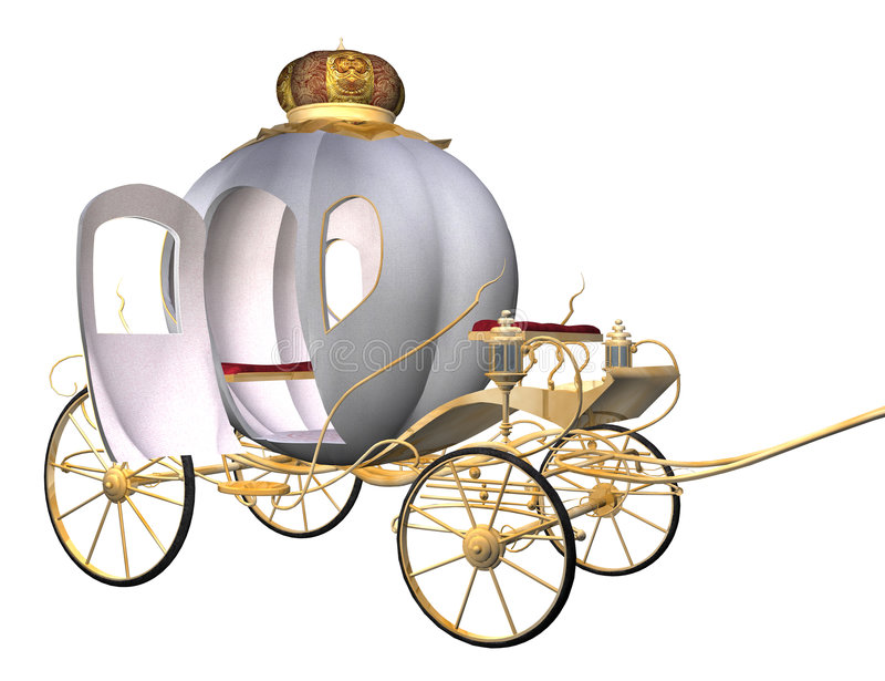 Cinderella's carriage vector illustration
