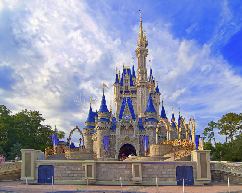 Cinderella's castle stock images
