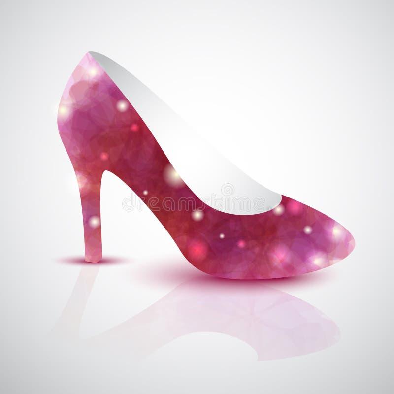 Cinderella shoe vector illustration