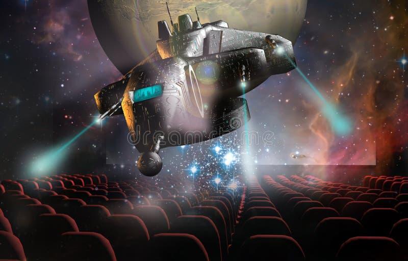 cine 3D ilustración del vector