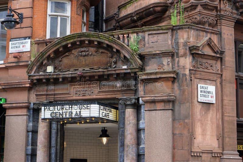 Cine central de Picturehouse, Londres imagen de archivo