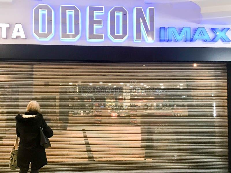 Cine de ODEON IMAX imagen de archivo libre de regalías