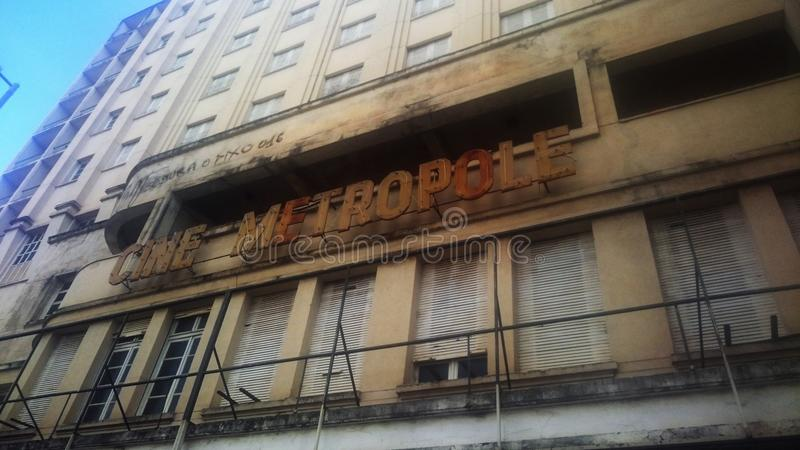 Old cinema in Brazil royalty free stock photos