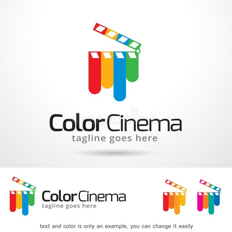 Cine Logo Template Design Vector del color libre illustration