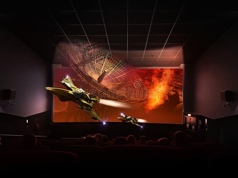 Cine olográfico 3D stock de ilustración