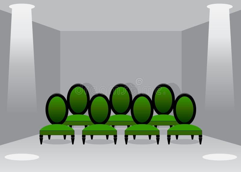 Cine Pasillo ilustración del vector