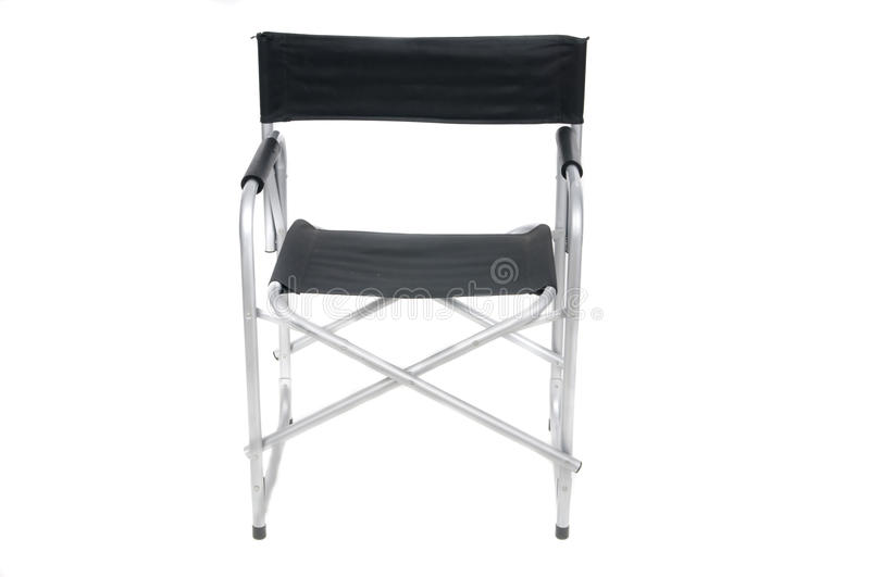 Cine scene with director chair. On white royalty free stock image