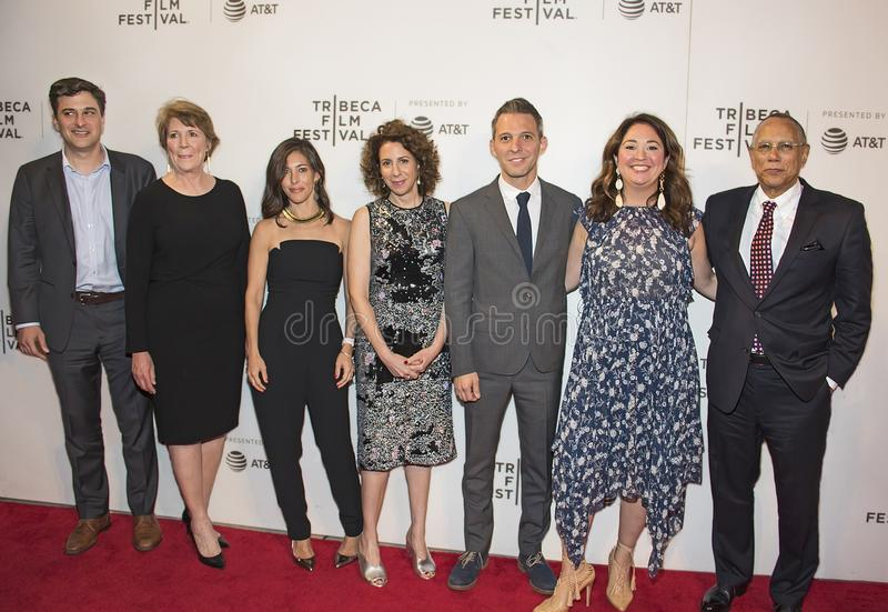 Cineastas e estrelas de New York Times no festival de cinema 2018 de Tribeca fotos de stock royalty free