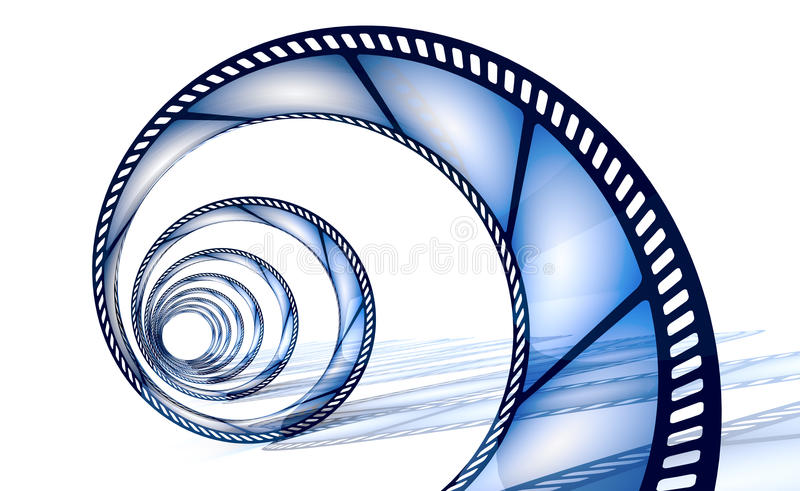 cinefilmspiral stock illustrationer