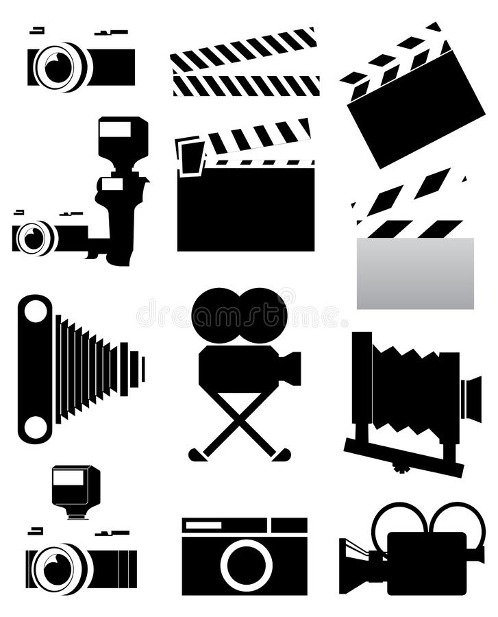 Download Cinema stock vector. Illustration of camera, chamber - 14308344