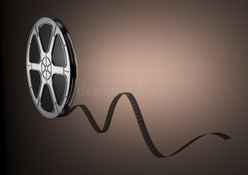 Cinema. 35 mm film for Cinema projector stock illustration