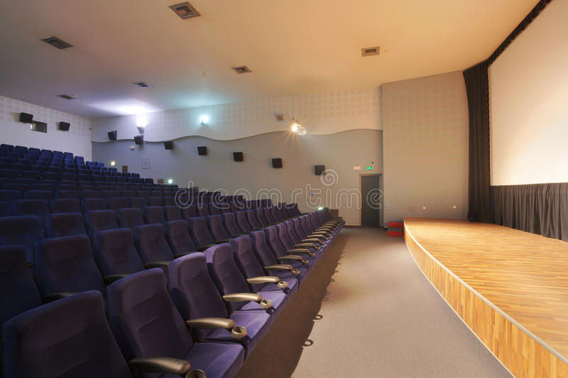 Download Cinema stock image. Image of perspective, chairs, large - 22029877
