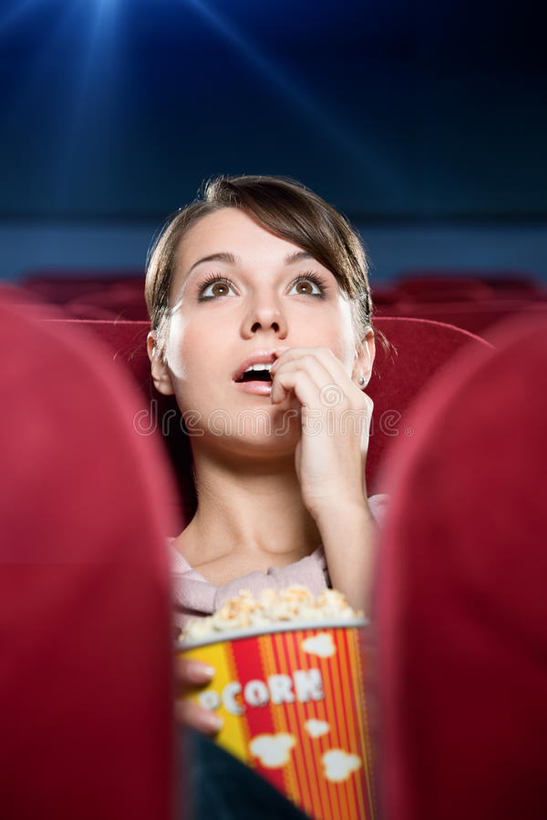 At the cinema stock image