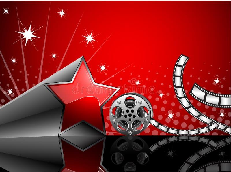 Cinema. Vector illustration of cinema background with film reel stock illustration