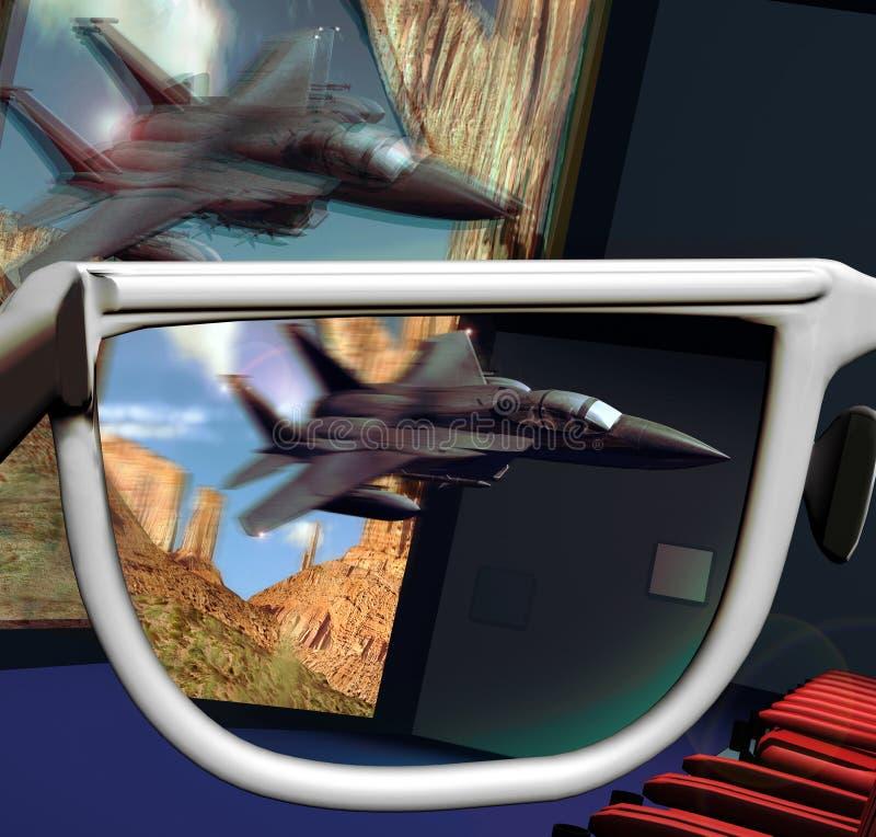 cinema 3D ilustração royalty free