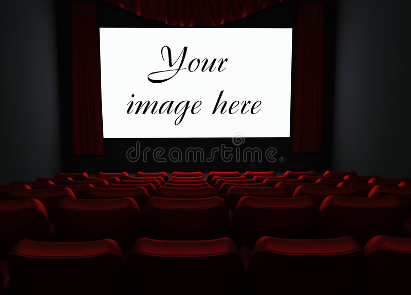 Cinema. With place for your image on screen