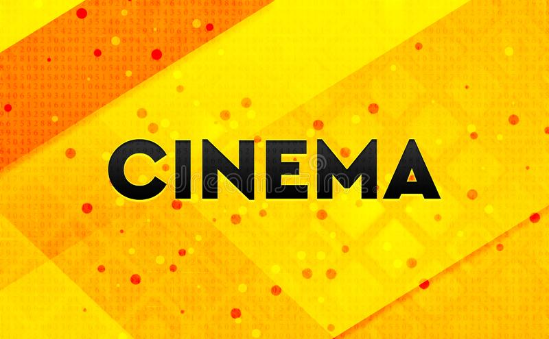 Cinema abstract digital banner yellow background royalty free illustration