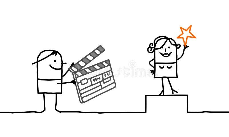 Cinema & povos ilustração royalty free