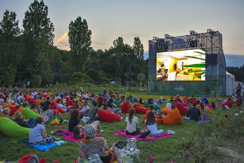 Cinema ao ar livre foto de stock royalty free