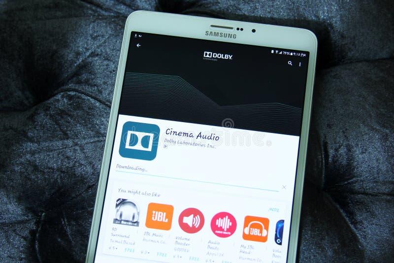 Cinema app audio do vapor do Dolby fotos de stock