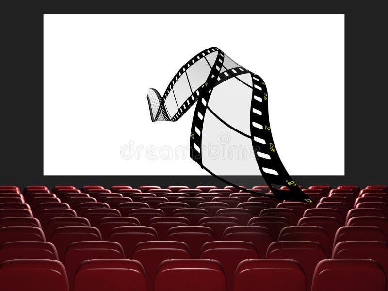 Download Cinema auditorium stock illustration. Image of film, canvas - 22799327
