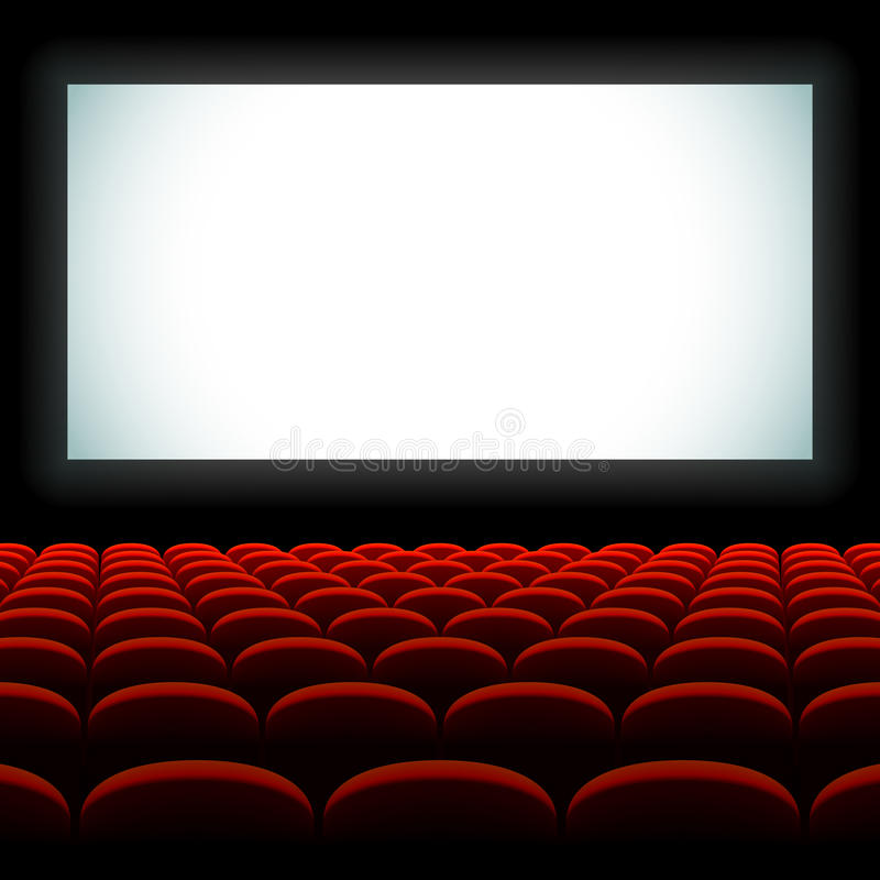 Download Cinema Auditorium With Screen And Seats Stock Vector - Illustration of perform, picture: 23496283