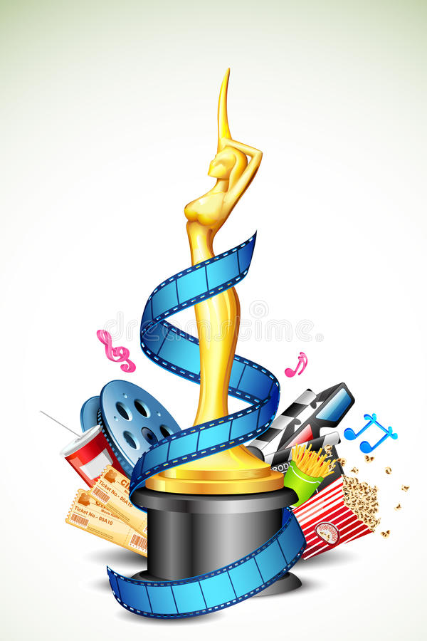 Download Cinema Award stock vector. Image of pass, drink, movie - 24098675