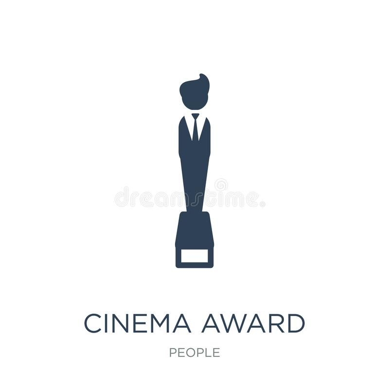 Cinema award icon in trendy design style. cinema award icon isolated on white background. cinema award vector icon simple and. Modern flat symbol for web site royalty free illustration