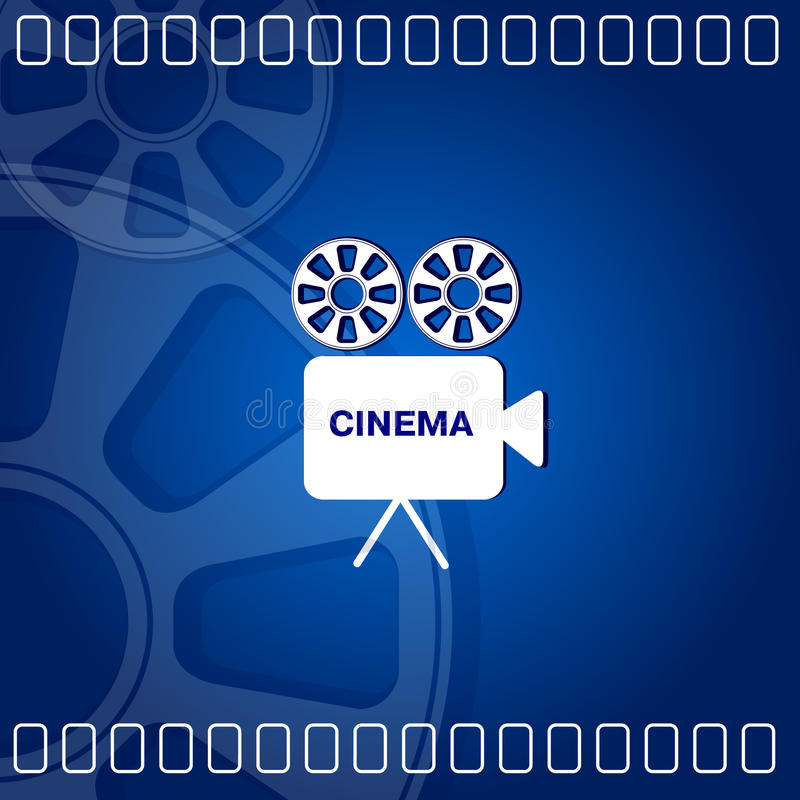 Cinema background stock illustration