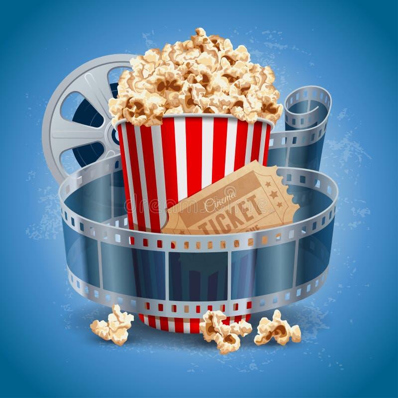 Cinema background vector illustration