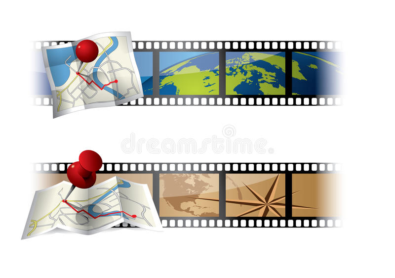 Download Cinema Banners stock vector. Image of entertainment, illustration - 21747015