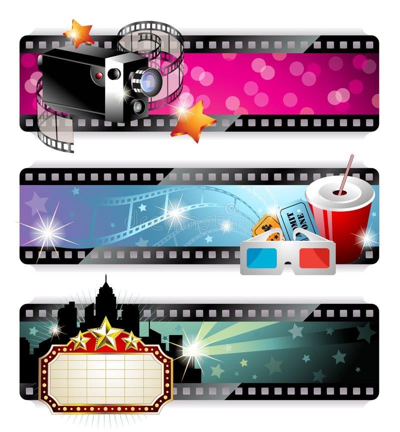 Free Cinema Banners Stock Photography - 24179342