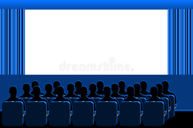 Cinema - blue room royalty free illustration