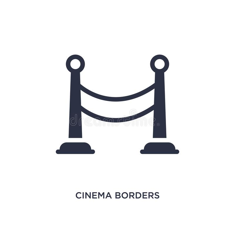 cinema borders icon on white background. Simple element illustration from cinema concept royalty free illustration