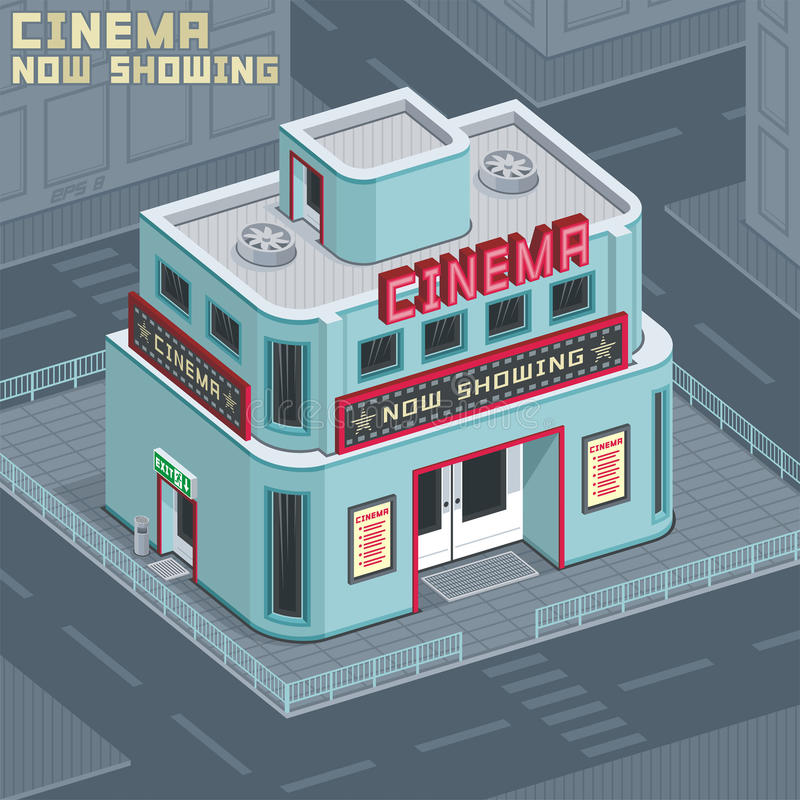 Download Cinema building stock vector. Image of showcase, street - 28702997