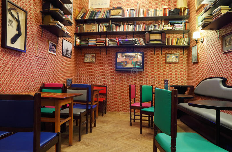 Download Cinema Cafe In House Of Journalists Editorial Stock Image - Image: 28153384