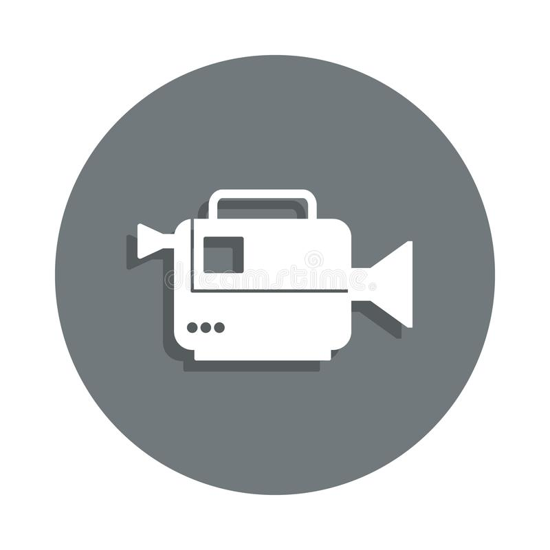 cinema camera icon in badge style. One of Cinema collection icon can be used for UI, UX royalty free illustration