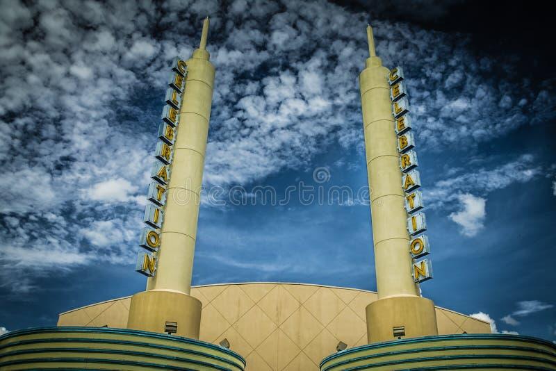 Cinema Celebration Florida Theatre Signage stock images