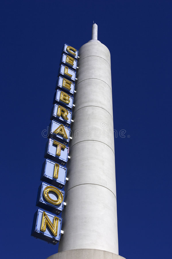Cinema in celebration small town orlando florida untied states usa. Vertical stock image
