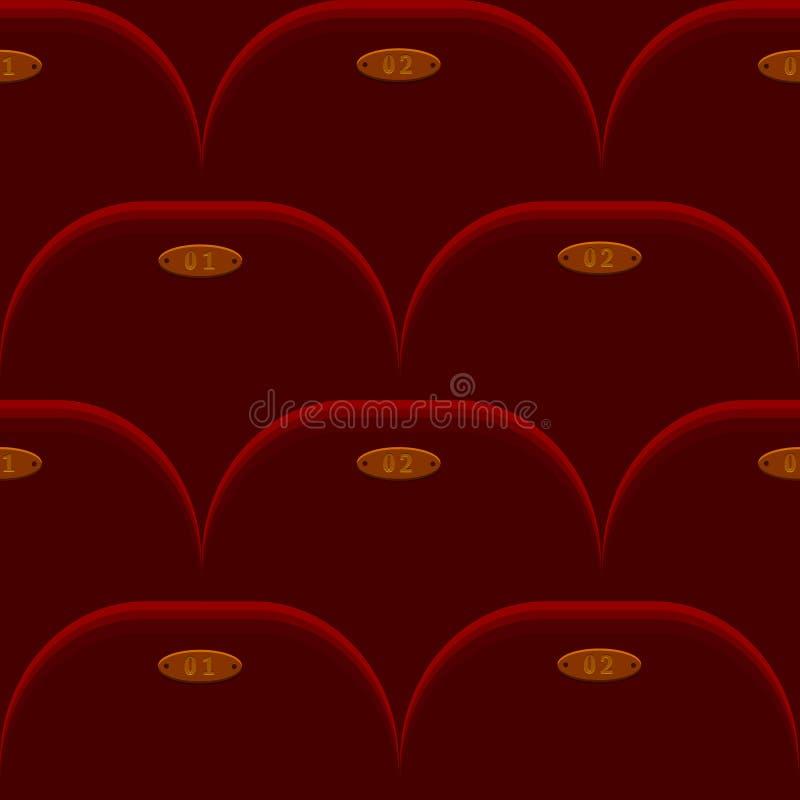 Cinema Chair Seamless Background Stock Photo