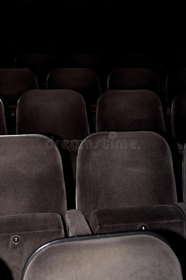 Cinema Chairs Stock Photography