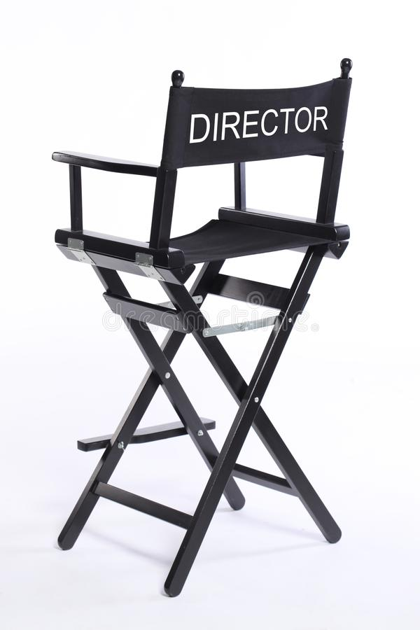 Cinema cinema movie director chair stool isolated on white background royalty free stock images