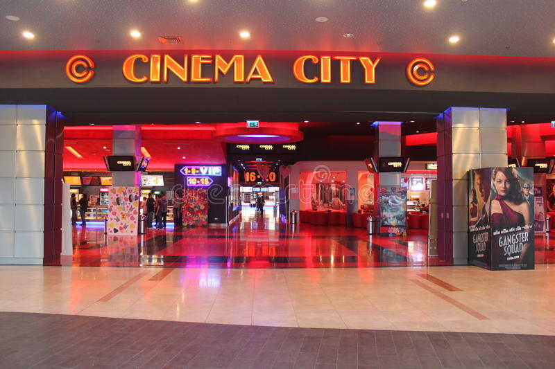 Download Cinema City editorial stock image. Image of city, people - 29403464
