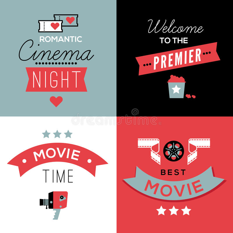Download Cinema Compositions With Text Stock Vector - Illustration of poster, flyer: 66474015