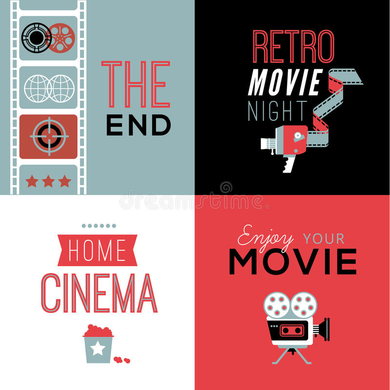 Download Cinema Compositions With Text Stock Vector - Illustration of element, entertaiment: 66474032