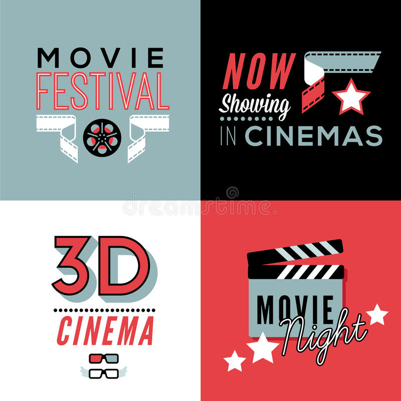 Download Cinema Compositions With Text Stock Vector - Illustration of poster, awards: 66474067