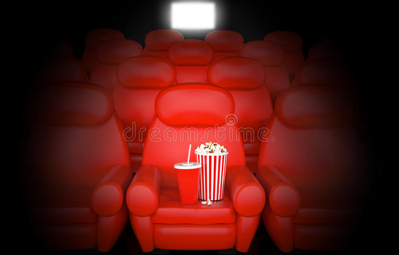 Cinema concept. On black background vector illustration