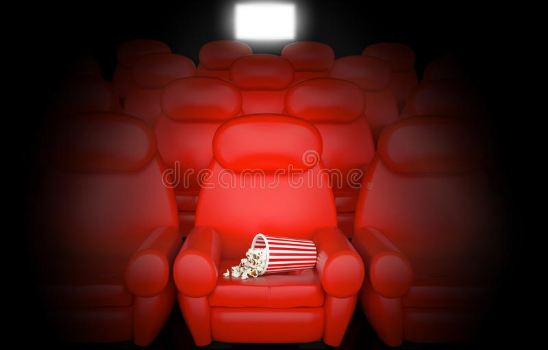 Cinema concept. With pop corn stock illustration